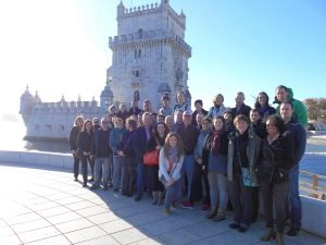 Team from SynTech France, taken in front of Belem tower, Lisbon.