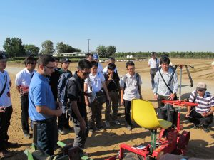 Japanese visitors assess SynTech's trials equipment