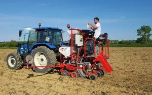 Seed trial planting near Toulouse
