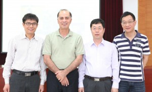 Dr. Khosro Khodayari (second from left) with team from BRI-CAAS