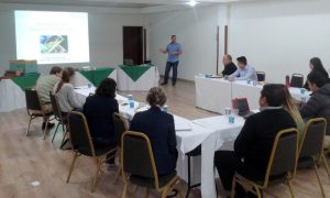 Latin America bee training workshop in progress.
