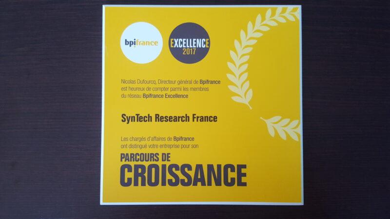 Excellence Award for SynTech France